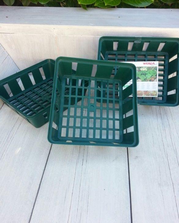 Bulb Basket Square (set of 3)