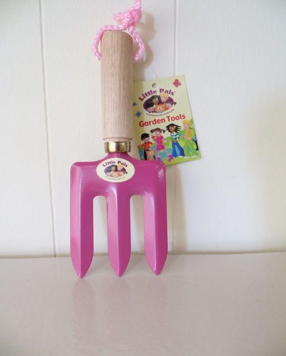 Children's Hand Fork Pink
