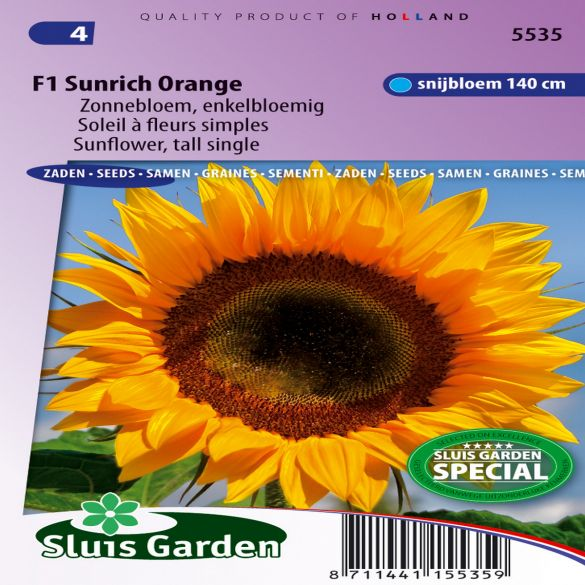 Sunflower Tall Rich Orange F1